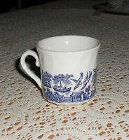 Beautiful Vintage 1985 Churchill Blue Willow coffee/Tea cup Made in England