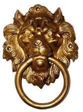 Golden Antique Vintage finish BIG LION FACE Shape Handmade Brass Door Knocker