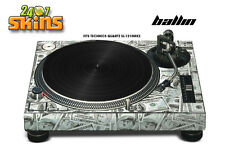 Skin Decal Sticker Wrap for Technics Quartz SL Turntable Pro Audio Mixer BALLIN