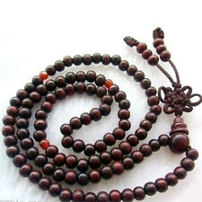 108 8mm Peltogyne Prayer Beads Wood Buddha Meditate Necklace Japa Mala Yoga