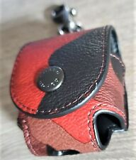 COACH 'Camo Print' Wireless Headphone Earbud Pod Case / Bag Charm Red Sig *NWT*