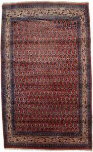 Allover Floral Design Vintage Orange-red 4X7 Tribal Oriental Rug Foyer Carpet