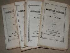 LE CONSEILLER DU PEUPLE - JOURNAL M. A. DE LAMARTINE - PREMIERE ANNEE 1849
