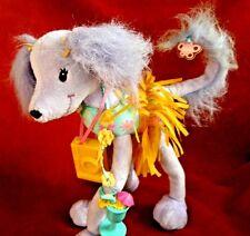 Barbie Posable Poodle Dog  Skirt Plush Stuffed Animal Mattel 2002