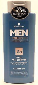SCHWARZKOPF MEN Zink Anti-Schuppen Männer Shampoo 3-fach-Effekt 250ml nach Wahl