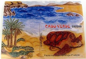 CAPE VERDE SEA TURTLE STAMPS SOUVENIR SHEET OCEAN MARINE LIFE SEA LIFE #788