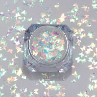 Holographic Butterfly Nail Art Flakes Glitter Sequins Sparkle Paillette Colorful
