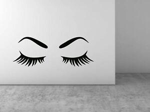 Eye brows Eyelashes Wall Sticker DIY Art Decal Wall Home Decoration