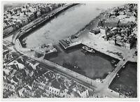 Die verlassenen Hafenanlagen von Dieppe. Orig-Pressephoto, von 1940