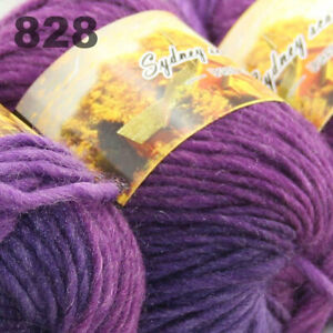 SALE LOT of 3 Skeins x 50g NEW Chunky Colorful Hand Knitting Scores Wool Yarn 28