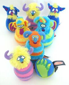 Melissa & Doug Monster Bowling Game Stuffed Plush Aliens 7 Pins 1 Ball Soft Set