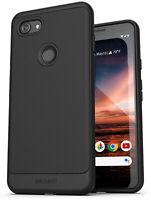 Google Pixel 3a XL Case (Thin Armor) Slim Fit Flexible Grip Phone Cover - Black