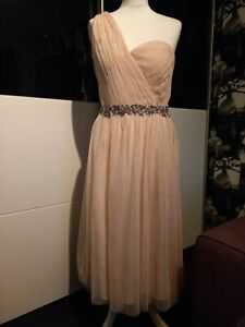 Bridesmaid or Prom Dress Size 10/12 In Peach Preowned