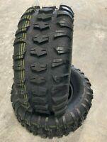 2 New ATV Tire 26 10.00 12 Pro Terrain 4 ply UTV 26x10.00x12 Tread 20/32