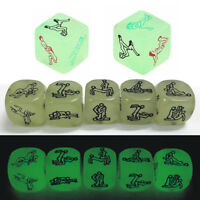 Sex Funny Noctilucent Adult Glow Dice Game Love Humour Gambling Erotic Crap Toy