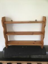 Solid Vintage Pine Shelving Wall Unit Bookcase Wood Fittings Kitchen Shelves