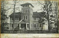 Islip, Long Island, NY 1907 Postcard: High School Building - New York