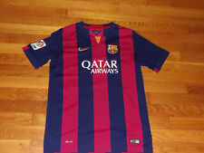 NIKE DRI-FIT FC BARCELONA SHORT SLEEVE SOCCER JERSEY BOYS LARGE EXCELLENT COND.
