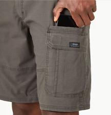 Men Wrangler Rip-Stop Cargo Shorts FLEX Relaxed Fit Olive Drab Khaki SIZES 34-54