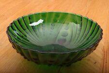 Green Glass Dot Pattern Bowl Vintage
