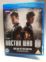 BBC Blu Ray DOCTOR WHO The Day Of The Doctor 3D 50th Anniversary Special + Code