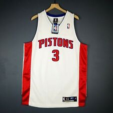 100% Authentic Ben Wallace Reebok Pistons Jersey Size 44 L XL Mens