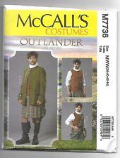 McCall's M7736 38-44 Sewing Pattern Men's Outlander Scottish Jacket, Vest & Kilt