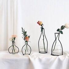 Art Minimalist Abstract Iron Black Lines Vase Flower Vase For Living lskn OqRnV