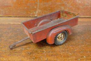 Vintage Tru Scale Red Utility Wagon Bed Trailer Farm Toy Pressed Steel