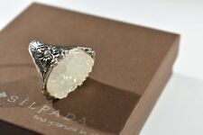SILPADA Sterling Silver CZ Druzy BEAUTY IN THE ROUGH Ring R2942 SIZE 8 WOW $114