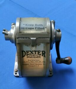 Antique Dexter Automatic Pencil Sharpener Co. 1906 Chicago USA COPPER #9162