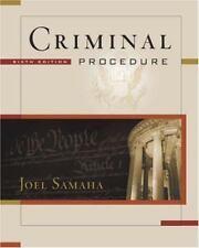 Criminal Procedure by Joel Samaha (2004, Mixed Media, Revised)