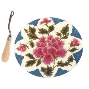 Blumen Muster Knüpfset, Latch-Hook Kit, Teppich zum Selber Knüpfen