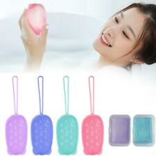 1X Silicone Wash Pad Body Exfoliating Back Spa Cleansing Shower Brush  7*12*5 cm
