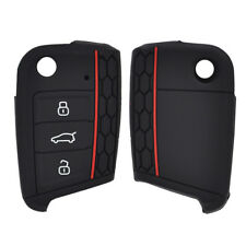 For VW SKODA SEAT 16-18 Silicone Remote Key Fob Case Cover Holder Polo Golf Mk7