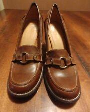 3b04305e438e Miss Bisou Brown Buckle High Heels Shoes Womens Size 6.5