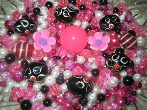 130 abalorios Pink lila Mix 4//6//8//10 mm para joyas Design bali perlas d311