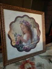 Home Interiors A Treasure in the Garden Angel Girl Flower Frame Lauri Snow Hein
