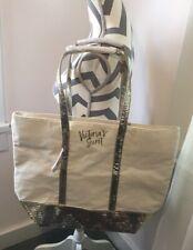 Victoria Secret Limited Edition Champagne Sparkle Tote Gold Bling Shoper Bag NWT