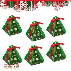 30/60/90pcs Mini Christmas Tree Favour/Gift Boxes Xmas Boxes 75x75x75mm UK