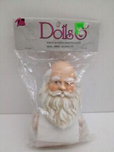 "Vtg Mangelsen's Porcelain Life Like Santa Head and Hands 4-1/4"" #162-25 ~ 1993"