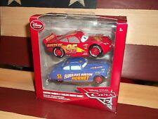 Disney Pixar Cars 3 Rusteze Lightning McQueen & Fabulous Hudson Hornet NEW VHTF