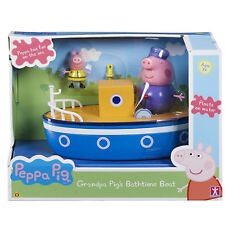 Peppa Pig's Toy Grandpa's Bathtime Boat & Figures Floats On Water Bath Fun NEW