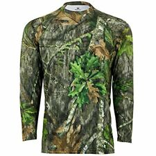 Mossy Oak Men's Camo Long Sleeve Performance Tech Tee Hunting Shirt Obsession...