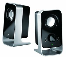 Logitech LS11 Computed 2.0 Stereo 2 X Speakers -Enhance PC Audio/Reduce clutter