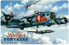 Stan Stokes Rubys Fortress Metal Sign Airplanes Man Cave Garage Shop STK050