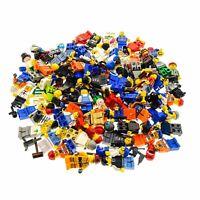 10 x Lego System City Figuren mit Zubehör Kopfbedeckung zufällig gemischt