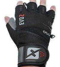 Skott Evo 2 Weightlifting Gloves with Integrated Wrist Wrap Support [MEDIUM]
