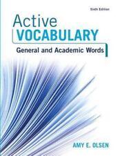Active Vocabulary by Amy E. Olsen (2016, Paperback)