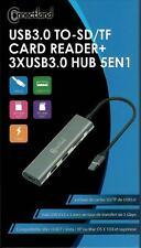 Connectland - Hub 3 ports USB 3.0 + Lecteur de carte SD/TF